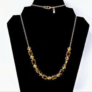 KATE SPADE jeweled OPERA NECKLACE~GRAY/GOLD